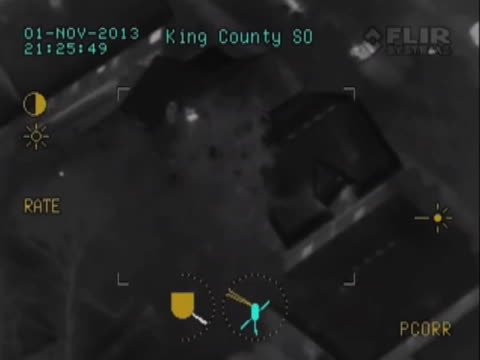 A burglary suspect is on the run in Seattle Washington but cops have the help of a night vision camera atop a helicopter to keep tabs on the man as...