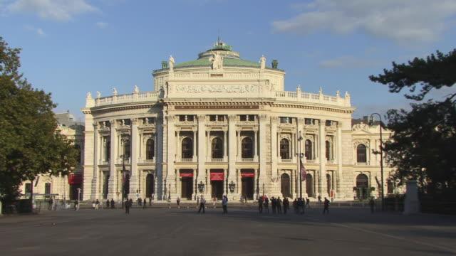 ws, zi, burgtheater, vienna, austria - 18th century style stock videos & royalty-free footage