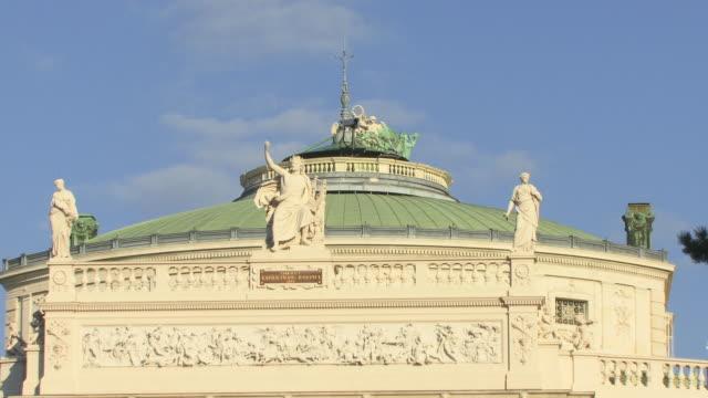 zo, ws, burgtheater, vienna, austria - 18th century style stock videos & royalty-free footage