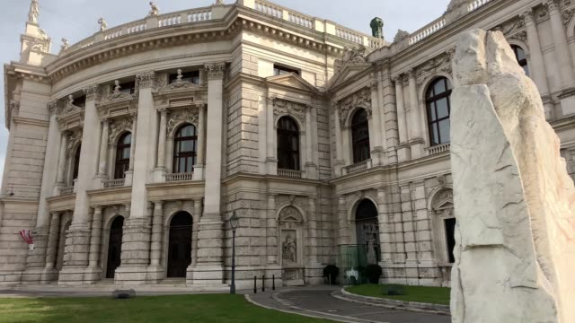 burgtheater vienna - wien stock-videos und b-roll-filmmaterial