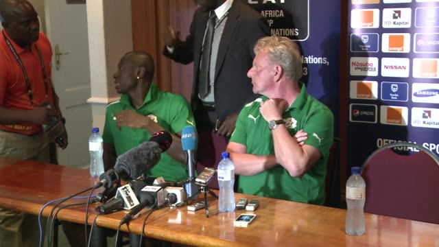 burkina faso coach paul put says there is more pressure on zambia than burkina faso ahead of tuesdays closing first round game against the defending... - mpumalanga province stock videos and b-roll footage