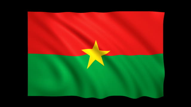 burkina faso flag loopable alpha included - stock video - satin stock videos & royalty-free footage