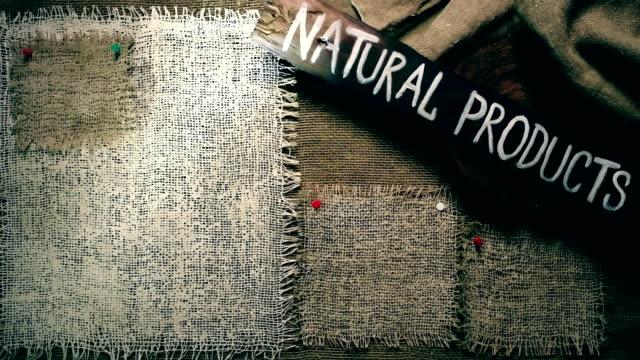 黄麻布のフレーム テンプレート - 荒い麻布点の映像素材/bロール