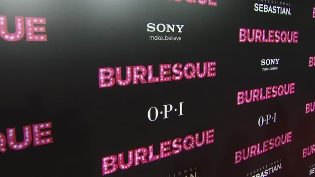 'burlesque' premiere at the 'burlesque' premiere at hollywood ca. - burlesque stock videos & royalty-free footage