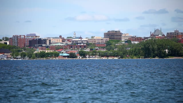 burlington, vermont on lake champlain - vermont stock videos & royalty-free footage