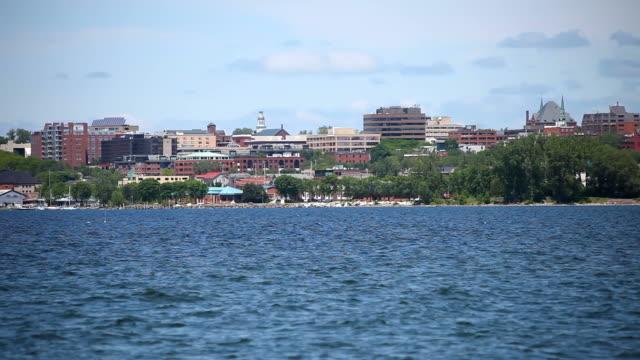 Burlington, Vermont no Lago Champlain