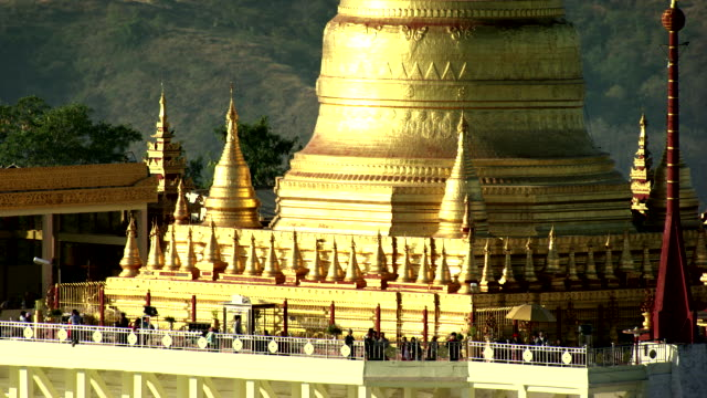 burma-myanmar :close-up roof golden temple - golden roof stock videos and b-roll footage
