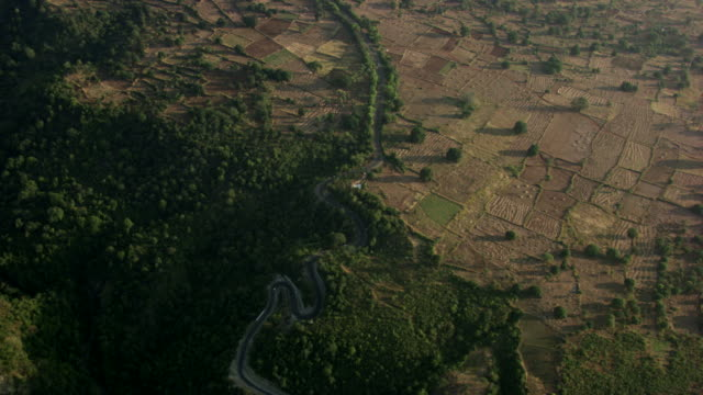 burma-myanmar : field view from above - myanmar video stock e b–roll