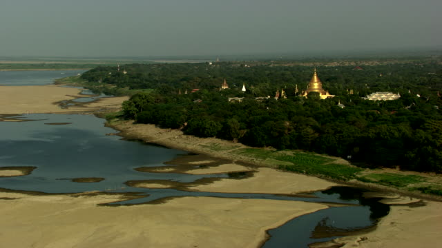 burma-myanmar : golden temple in the forest - myanmar stock videos & royalty-free footage