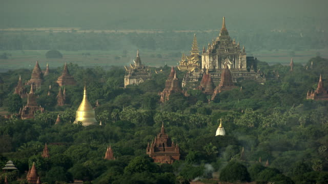 burma-myanmar : white and golden temple - myanmar stock videos and b-roll footage