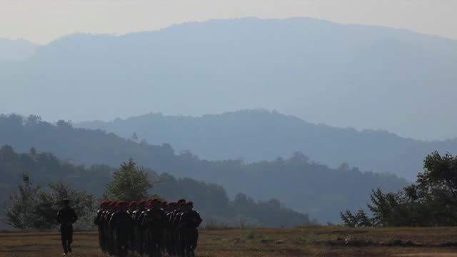 Burmese army on patrol February 2010