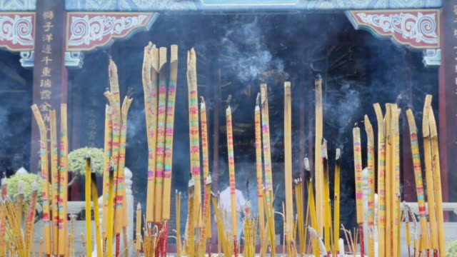 burned incense sticks - igneous stock videos & royalty-free footage