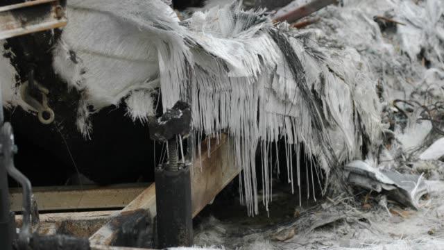 burned yacht - woolsey feuer stock-videos und b-roll-filmmaterial