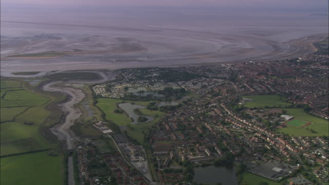 burnham-on-sea and river parrett - somerset england stock videos & royalty-free footage