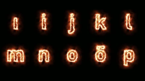 burning alphabet loopable with luma matte - alphabet stock videos & royalty-free footage