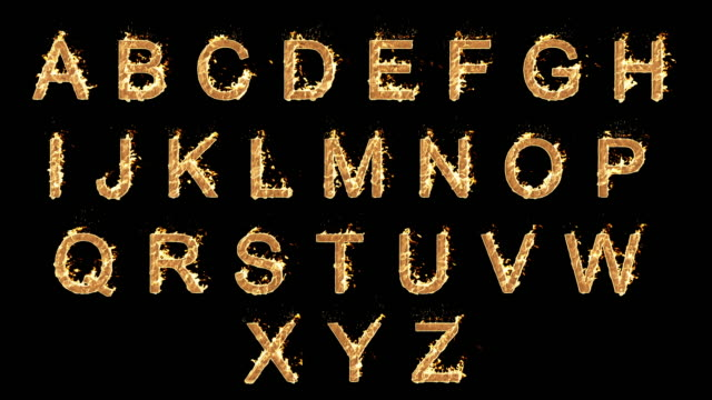 burning alphabet - the alphabet stock videos & royalty-free footage