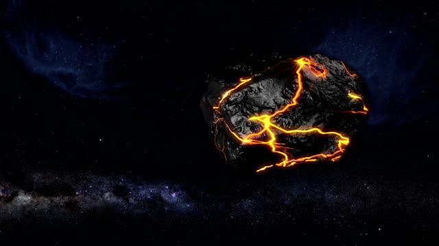 vídeos de stock e filmes b-roll de ardor asteróide ou meteorito - meteoro