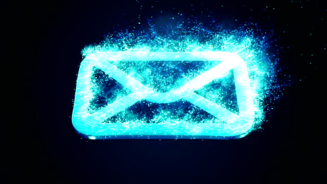 burning blue email animation