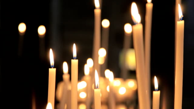 burning candles - candlelight stock videos and b-roll footage