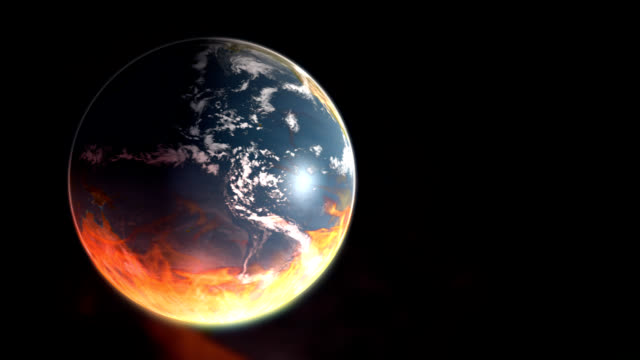 burning earth - global warming - apocalypse stock videos & royalty-free footage