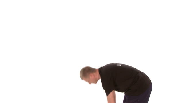 vídeos de stock e filmes b-roll de hd: queimar gordura - one mid adult man only