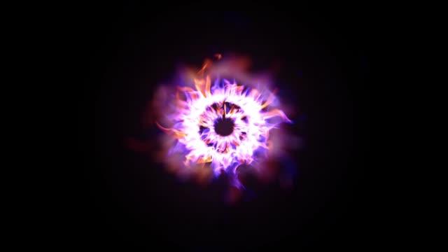 fiamme in fiamme al rallentatore - colore isolato video stock e b–roll
