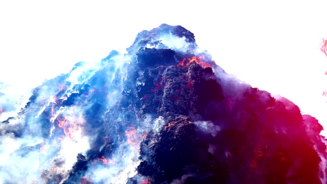 vídeos de stock e filmes b-roll de burning fire outdoor during summer season - changing form