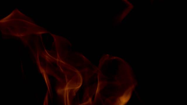 slo mo burning flame - oranje stock videos & royalty-free footage