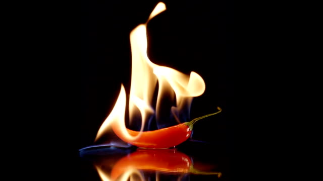 Burning Hot Chili Peppers on Fire