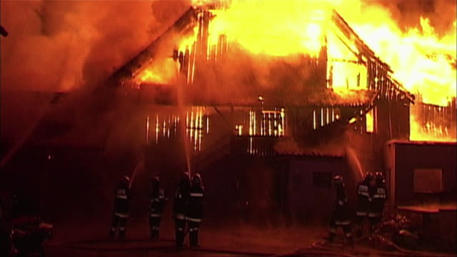 burning house - fire natural phenomenon stock videos and b-roll footage