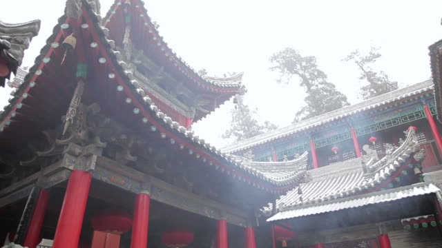 ms td burning incense to worship god in god of medicines temple in temple fair during chinese spring festival / tongchuan, shaanxi, china - animal representation stock videos and b-roll footage