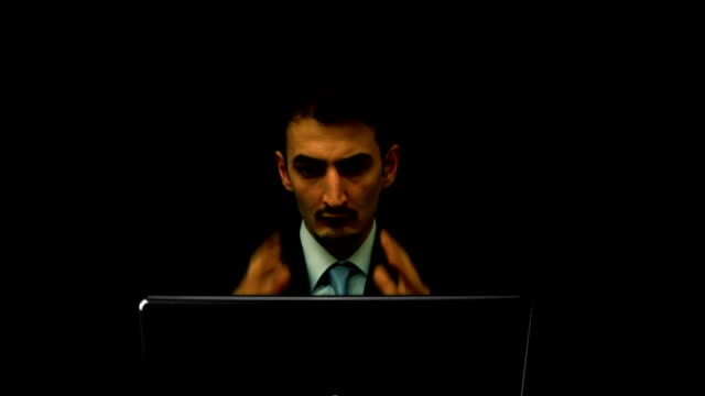 Burning Laptop - Danger, Accident and Hack Concept