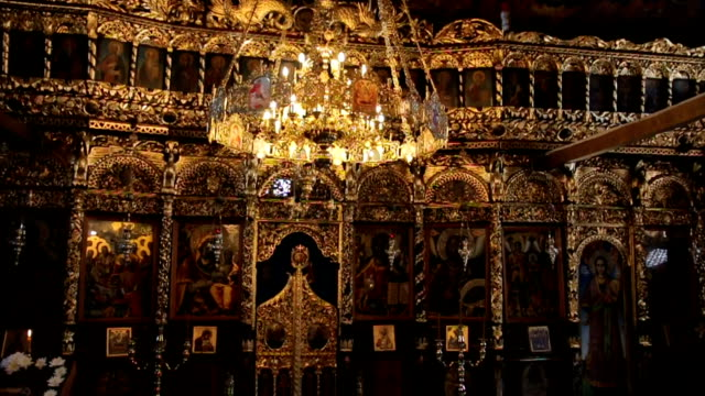 burning lights in orthodox church - cathedral stock videos & royalty-free footage
