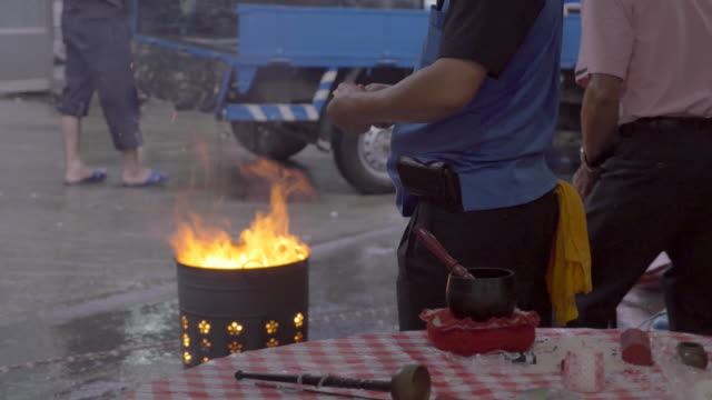 burning of spirit / ghost money - sun moon lake stock videos and b-roll footage