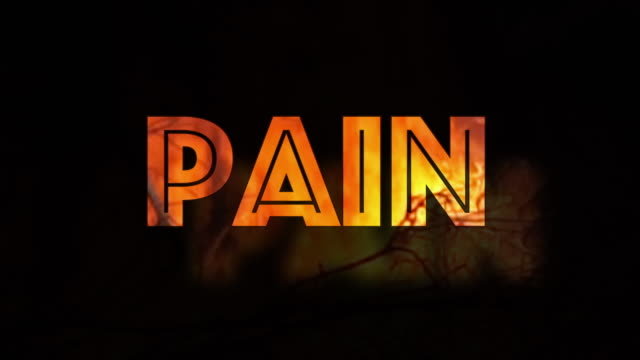 Burning Pain infographic on black background