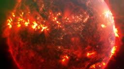 Burning planet Earth. Nasa Public Domain Imagery