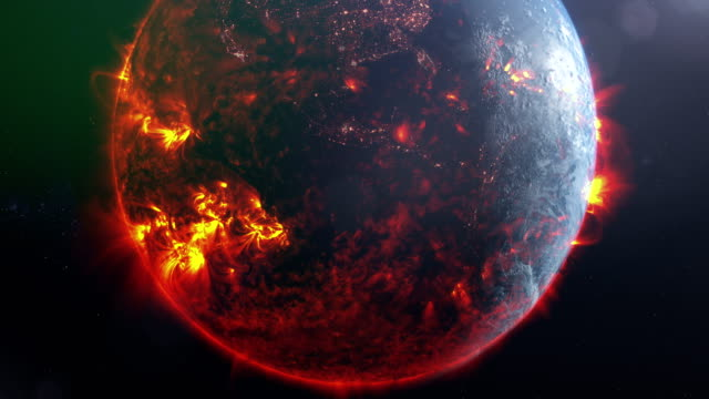 burning planet earth. nasa public domain imagery - astronomy stock videos & royalty-free footage
