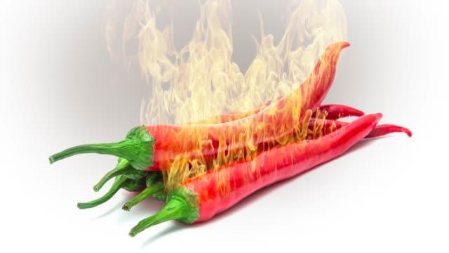 赤唐辛子を燃やす。 - 赤唐辛子点の映像素材/bロール