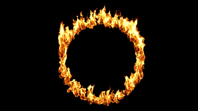 burning ring of fire - flamme stock-videos und b-roll-filmmaterial