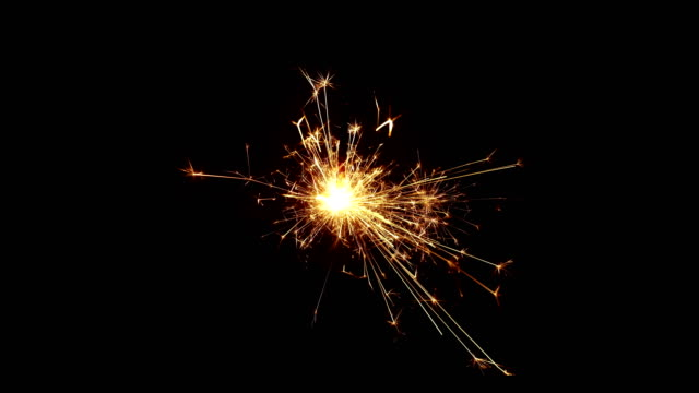 burning sparkle in pitch black surrounding - sparkler stock videos & royalty-free footage