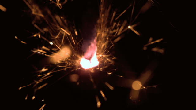 Burning sparkler close up