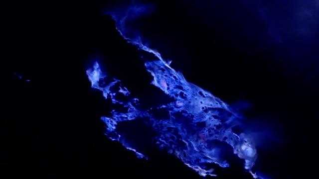 burning sulfur on kawah ijen - sulphur stock videos & royalty-free footage
