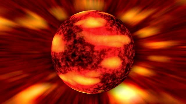 vídeos y material grabado en eventos de stock de burning sun simulación de bucle - mancha solar