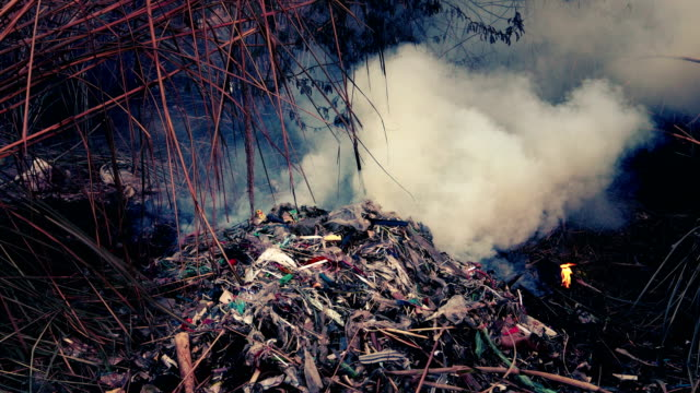 burning toxic waste garbage - toxic waste stock videos & royalty-free footage