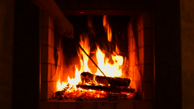 Find professional Fireplace Tool Set videos and B-roll stock footage available for license in film