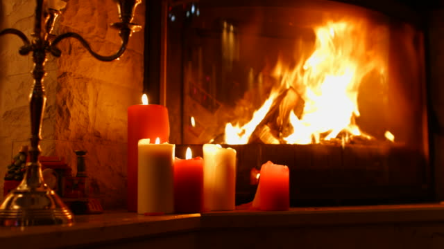 burning wood in the fireplace. - fireplace stock videos & royalty-free footage