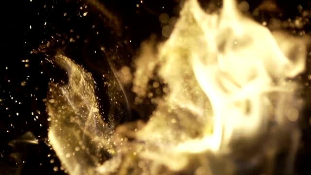 Verbrennung von Holz im Kamin