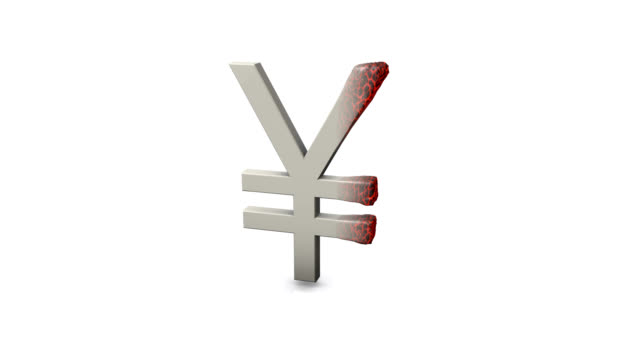 burning yen symbol - yen symbol stock videos & royalty-free footage