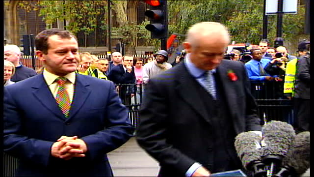 futher revelations lib england london ext paul burrell and his solicitor andrew shaw along outside the old bailey following his acquittal on charges... - acquittal stock videos and b-roll footage
