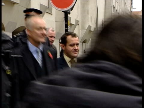 futher revelations lib england london paul burrell and his solicitor andrew shaw along outside the old bailey following his acquittal on charges of... - statue of justice london stock videos and b-roll footage